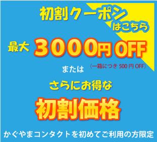 最大3000円OFF 初割クーポン